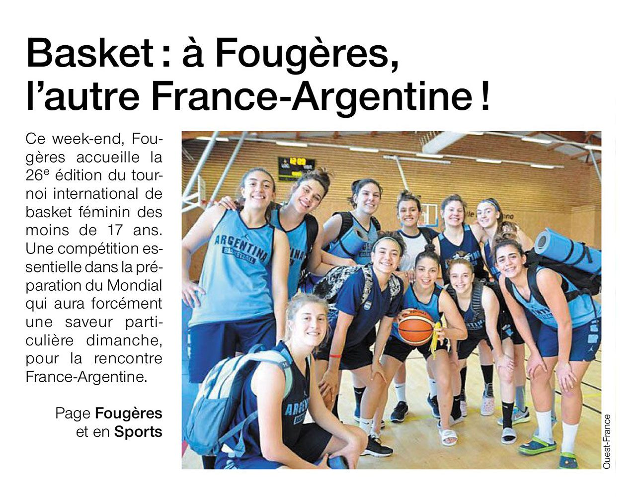 508fafaf587fe Tournoi International de Basket-Ball Féminin de Fougères
